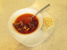 Mary Spak's light and lovely goat soup.