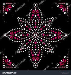 Stock Vector - Mandala vector art, Australian dot painting black and white design, Aboriginal folk art bohemian style Image Mandala, Mandala Dots, Mandala Pattern, Mandala Design, Mandala Canvas, Mandala Artwork, Mandala Painting, Aboriginal Dot Painting, Dot Art Painting