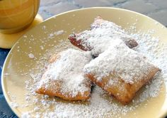 Plate of home-cooked Cafe du Monde Beignets