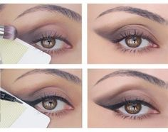 Stuck on how to get the perfect cat eye? Use a credit card to make a foolproof line. | 44 Lazy Girl Beauty Hacks To Try Right Now