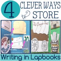 4 Clever Ways to Store Writing in Lapbooks