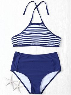 GET $50 NOW | Join RoseGal: Get YOUR $50 NOW!http://m.rosegal.com/bikinis/halter-neck-striped-high-waist-women-s-bikini-set-591004.html?seid=75l4bceesc517m1u441ek5taf2rg591004