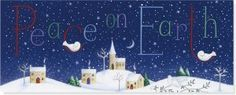 Peace On Earth, Holiday, Panoramic Holiday Boxed Cards, Peter Pauper Press