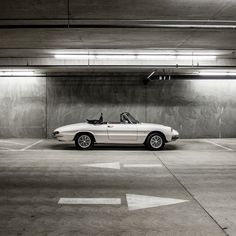 an unexpected white Alfa Romeo Spider