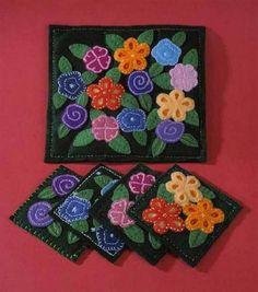 Blooming Flowers Coasters & Trivet