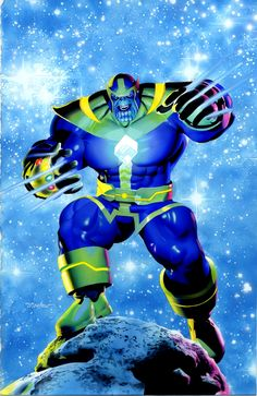 mikemayhew:  THANOS Watercolor Commission by Mike Mayhew