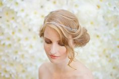 Iris by Happily Ever Headwear Silver Headband, Beads And Wire, Crystal Rhinestone, Iris, Fancy, Bridal, Elegant, Spring, Inspiration