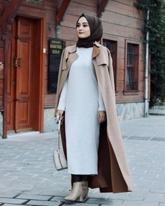 Muslim Fashion, Modest Fashion, Fashion Outfits, Womens Fashion, Hijab Dress, Hijab Outfit, Modest Outfits, Casual Outfits, Winter Outfits