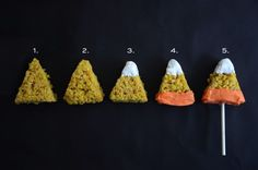 Looking for a Halloween dessert the kids can help make? The candy corn crispy rice treats are just what you are searching for!