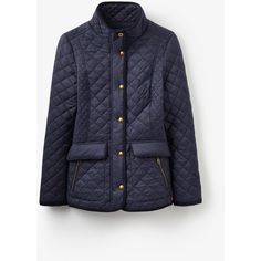 Newdale Marine Navy Quilted Jacket | Joules UK ($110) ❤ liked on Polyvore featuring outerwear, jackets, blue jackets, navy quilted jacket, joules jacket, quilted jacket and blue quilted jacket