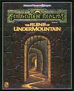 Undermountain. The first real campaign setting I played and the one that solidified my love of pen and paper RPG's (thanks in very large part to the DM). Sadly, it happened at a crossroads in my life that saw RPG's being forgotten for a time. But now it's back.
