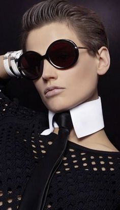 NOIR Black Beauty :: Black Shades - Photography Jon Kortajarena / Saskia for Karl Lagerfeld Eyewear
