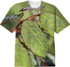 Dewy green Autumn Leaves T-Shirt from Print All Over Me