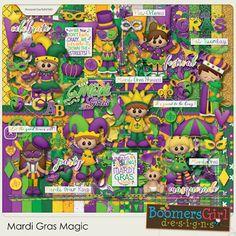 "BoomersGirl Designs: ""Mardi Gras Magic"" Digital Kit"