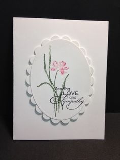I found a pretty card while at Split Coast Stampers  and I thought I would recreate it.  I liked the whole concept of the card but I thou...