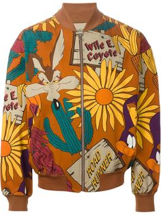 """Jc De Castelbajac Vintage """"the Coyote And The Road Runner"""" Bomber Jacket - House Of Liza - Farfetch.com"""