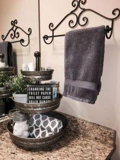 Master bathroom decoration ideas 45 Spectacular Farmhouse Bathroom Decor Ideas That Inspire You Bathroom Towels, Master Bathroom, Bathroom Cabinets, Bathroom Mirrors, Bathroom Faucets, Restroom Cabinets, Basement Bathroom, Master Bedrooms, Bathroom Trays
