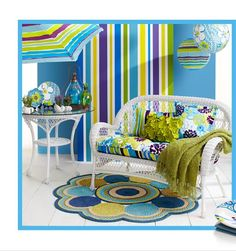Summertime at Pier 1 featuring the Catalina Cove Decor Collection...I'm in LOVE with these colors! This looks like a happy summer theme!