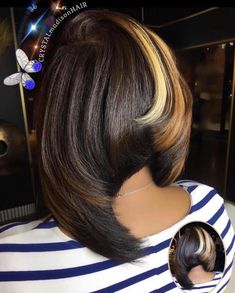 Dope cut and color by - Black Hair Information Dope Hairstyles, Pretty Hairstyles, Black Hairstyles, Short Weave Hairstyles, Love Hair, Gorgeous Hair, Short Hair Cuts, Short Hair Styles, Bob Styles
