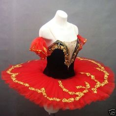 Made to your measurement - Classical Ballet Tutu BkRed #Senseshop