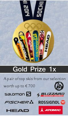 Win the ultimate first place prize : A brand new pair of skis from our selection of top brands worth up to 700 dollars ! Olympia, Gold Prize, The Selection, Skiing, Pairs, Top, Games, Ski, Spinning Top