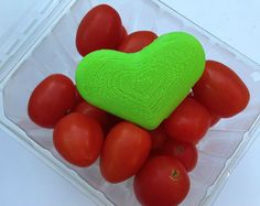 So cool! This little green heart helps keep produce fresher longer.