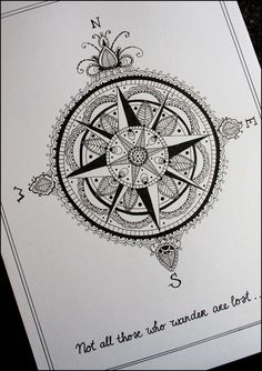 Newly Compass Tattoo Design
