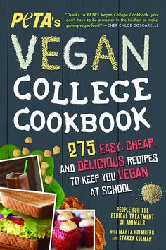 Booktopia has PETAS Vegan College Cookbook, 275 Easy, Cheap, and Delicious Recipes to Keep You Vegan at School by PETA. Buy a discounted Paperback of PETAS Vegan College Cookbook online from Australia's leading online bookstore. Vegan Cookbook, Cookbook Recipes, Diet Recipes, Healthy Recipes, Supper Recipes, Healthy Deserts, Potluck Recipes, Bean Recipes, Pork Recipes