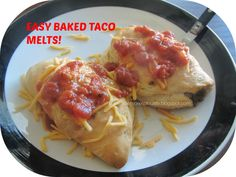 Outnumbered by Little Boys! : Easy Baked Taco Melts- Just FIVE ingredients