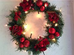 A personal favorite from my Etsy shop https://www.etsy.com/listing/238585126/christmas-wreath-christmas-doorhanger