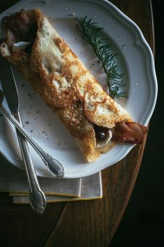 Sunday brunch idea | Grape crepes with brie and bacon.