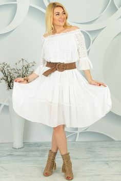 Sukienka Repudia Bell Sleeves, Bell Sleeve Top, Spring Collection, White Dress, Dresses With Sleeves, Long Sleeve, Women, Fashion, Tunic