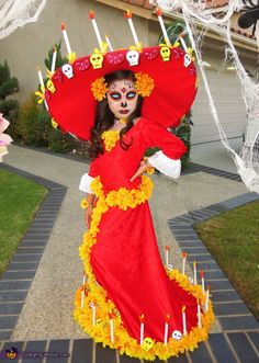 Sandra: My daughter is La Muerte from The Book of Life. There was no La Muerte costume on the market so I had to create this costume from scratch -- it...