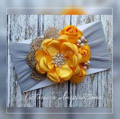 Fabric Flower Headbands, Rosette Headband, Flower Hair Clips, Fabric Flowers, Paper Flowers, Baby Hair Bows, Baby Girl Headbands, Felt Christmas Ornaments, Hair Ornaments