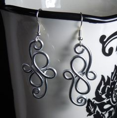 Spiral Waves Dangle Earrings
