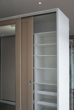 Sliding Wardrobes for Melbourne Homes Tall Cabinet Storage, Locker Storage, Sliding Wardrobe Doors, Melbourne House, Wardrobes, Laundry, Mirror, Space, Room