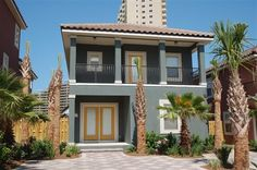 House vacation rental in Destin Area from VRBO.com! Parking would be an issue, but has nice space around the private pool. Costs $3291/week or 549 dollars a night. 4 bdrm, 3 bath; sleeps 12-14. Great location. Less than 2 min walk to beach and 1/2 mile from outlets. Located in Miramar Beach