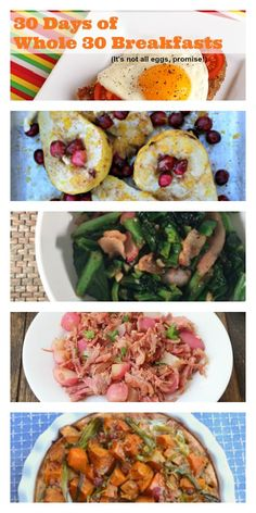30 Days of Whole 30 Breakfasts - that aren't all eggs! http://meatified.com #paleo #glutenfree #whole30