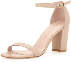 Pin for Later: 23 Commute-Friendly Shoes to Wear to Work in the Summer  Stuart Weitzman Nearlynude Leather City Sandal ($398)