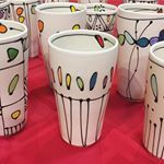 Loving these tumblers Hope you are having a great day freeceramics pottery tumbler cup handmade madeinmontana helenamt ceramics