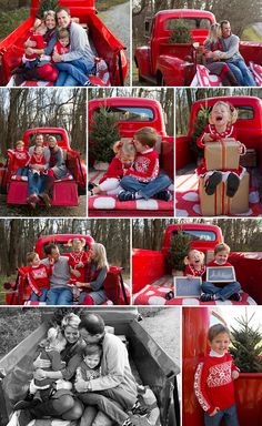 When I was contemplating this mini session set-up, I knew I needed the perfect red truck to make it all come together. I went straight to the most helpful source that I could think of...Facebook. Within hours I had several people come forward with ideas of where I could get one and this is