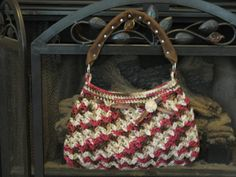 Crochet hobo bag by DesignsBySewUnique on Etsy, $42.00