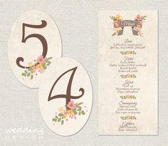 Menü és asztalszám  Menu and table numbers