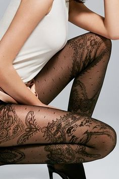 Fiore Paris 30 Tights - My Style - - Fiore Paris 30 tights – My Style – - Silk Stockings, Stockings Lingerie, Black Stockings, Lingerie Look, Lingerie Fine, Traje Casual, Pantyhosed Legs, Bas Sexy, Lace Tights