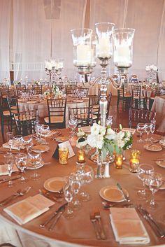 Candle centerpiece #weddings #centerpieces #tablescapes #blisschicago