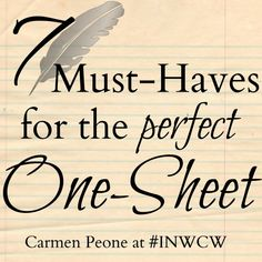 7 Must-Haves for the Perfect One-Sheet Yee Yee Peone Levek Northwest Christian Writers Writing Humor, Fiction Writing, Writing Tips, Writing Conferences, Writers Conference, First Draft, Creative Writing, Prompts, Must Haves