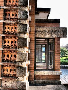 Imperial Hotel, Tokyo, by Frank Lloyd Wright Prairie Style Architecture, Cultural Architecture, Historical Architecture, Art And Architecture, Architecture Details, Frank Lloyd Wright Buildings, Frank Lloyd Wright Homes, Imperial Hotel, American Interior