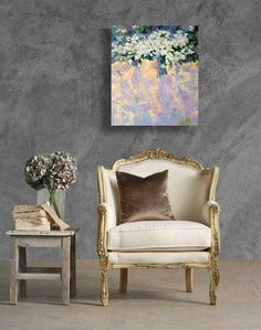 Lilac flowers, lilac, flowers, oil on canvas, original painting, contemporary art, modern art, original design ,  art for home, interior