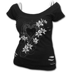 online shopping for Spiral Womens - Pure Of Heart - White Ripped Top Plus Size Black from top store. See new offer for Spiral Womens - Pure Of Heart - White Ripped Top Plus Size Black Tattoo Clothing, Black Goth, Renaissance Clothing, Plus Dresses, Parka, Cute Outfits, Sexy Outfits, Stylish Outfits, Pure Products