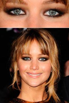 Celeb eyemakeup including Jennifer-Lawrence